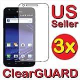 3x Samsung Galaxy S II Skyrocket SGH-i727 Premium Clear LCD Screen Protector ...