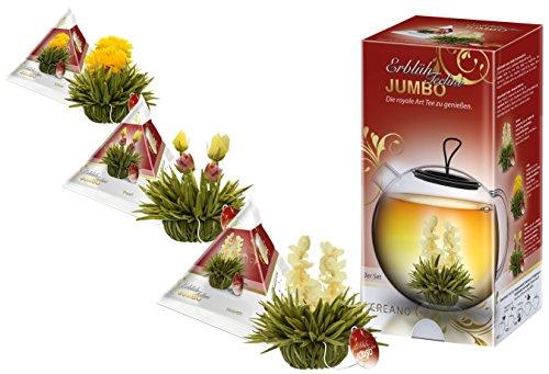 Teelini Erblühtee Jumbo Teeblumen im XXl-Format in 3 Sorten (Weißer Tee)