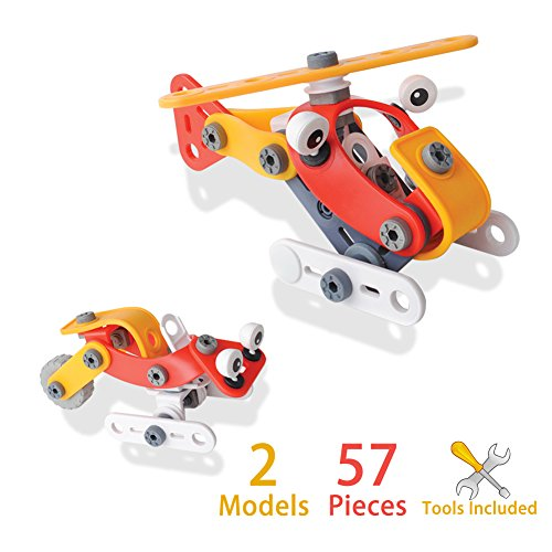 Helicopter Take-A-Part Build Toy with Tools for Kids by Elf Star (Build Helicopter compare prices)