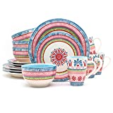 Euro Ceramica 16 Piece Merille Artisan Dinnerware Set