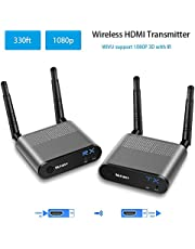 MEASY Wireless HDMI Transmitter and Receiver HDMI Extender Up to 100M / 300FT (1 TO 1)