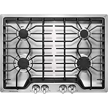 Image of Frigidaire FFGC3026SS 30' Gas Sealed Burner Style Cooktop with 4 Burners, ADA Compliant in Stainless Steel Home Improvements