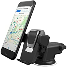 The universal windshield dashboard handset bracket has a strong suction cup and iPhone 6 plus / 654 Samsung Galaxy S6 edge / S6 S5 S4 S3 note Nexus X clip etc. (Black goods)
