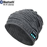 CoCo Fashion Wireless Bluetooth Music Beanie Hat Cap Built-in Stereo Speakers for Winter Sports Fitness Casual Activities