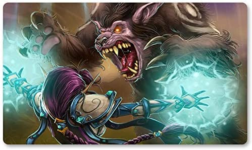 Warcraft34 – Juego de mesa de Warcraft tapete de mesa Wow juegos teclado Pad Tamaño 60 x 35 cm World of Warcraft Mousepad para Yugioh Pokemon MTG o TCG: Amazon.es: Oficina y papelería