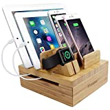Best Cable Management For IPads - iCozzier Bamboo 5-slot Removable Tablet Phone Stand Holder Review