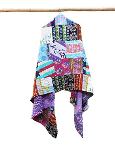Cotton Scarf Head Wrap Stole veil Kantha Embroidered Scarf Veil Boho Scarves patchwork