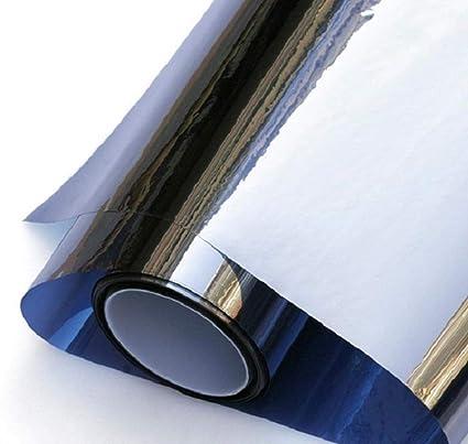 S`good Protección UV Película Ventanas,Espejo Azul Oscuro ...