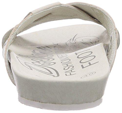 Dockers by Gerli 36BR00 - zuecos de cuero unisex blanco - Weiß (offweiss 510)