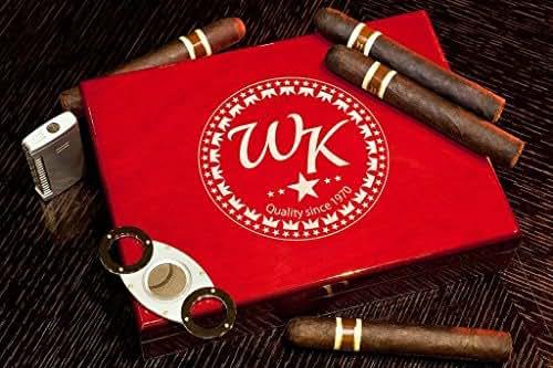 Personalized Humidor, Custom Engraved Rosewood Cigar Box, Desktop Humidor