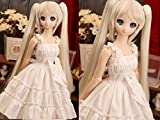 1/3 SD DOD BJD Dress Skirt Outfit Lolita Doll Dollfie Luts / 5 Colors to Choose / White