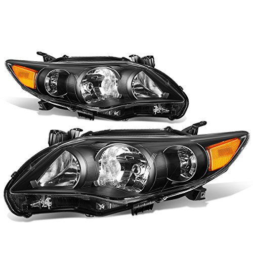 For Corolla Sedan Pair of Black Housing Amber Corner Headlight Kit