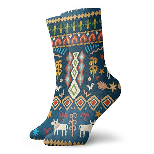 Mens and Women Patterned Dress Socks Pysanky Folk Art_1874 Colorful Funny Novelty Crazy Crew Socks