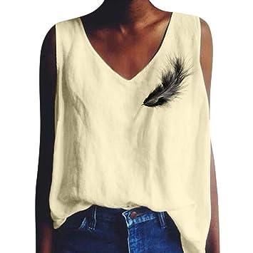 Amazon.com: Onefa - Chaleco sin mangas para mujer, diseño ...