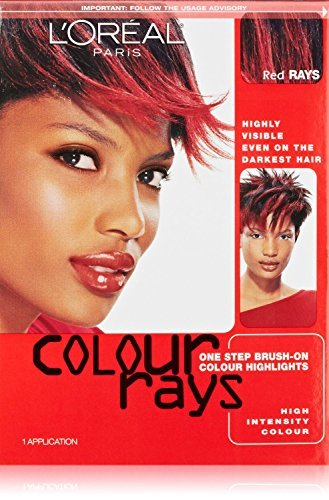 L'oreal Paris Colour Rays Hair Color, Red Rays (4 Pack) (Color Rays Hair Dye)