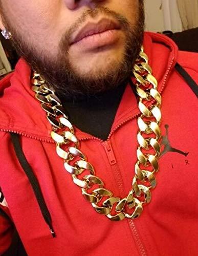 "JIL Big Chunky Hip Hop Chain Necklace,32"",36"" 2"