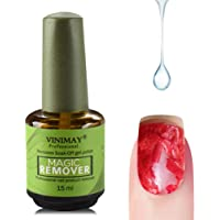 Rainrain27 Magic Gel Nail Polish Glue Remover, Nail Magic Strengthener Treatment and Conditioner 8ml,Soak Off Nail Art Primer Acrylic Brush Nail Glue Hardener for Women