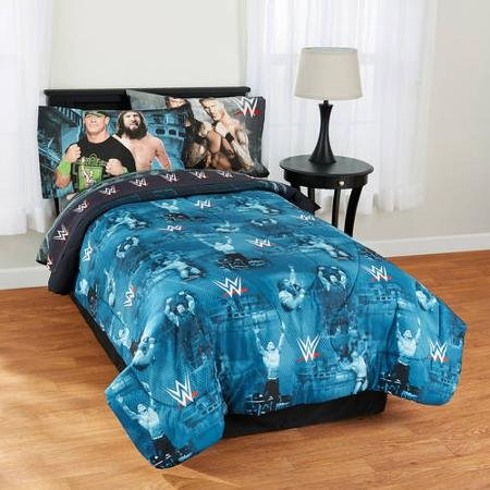WWE ''Industrial Strength'' Twin Bedding Comforter and Twin Sheet Set