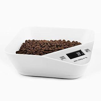 Sue Supply - Cuenco Digital para Mascotas, medidor de Peso y Comedor, para cocinar Alimentos y Mascotas, Color Negro y Blanco, 5 kg: Amazon.es: Productos ...