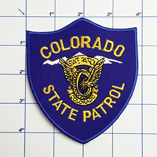 (SNOW - 1 PC US Police Patches - Full Size Embroidered Iron-On Patch Series - Colorado State Police )