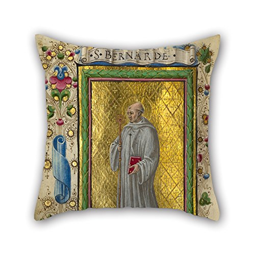 Slimmingpiggy Pillow Shams Of Oil Painting Taddeo Crivelli (Italian, Died About 1479, Active About 1451 - 1479) - Saint Bernard 18 X 18 Inches / 45 By 45 Cm,best Fit For Kitchen,kids Room,dance