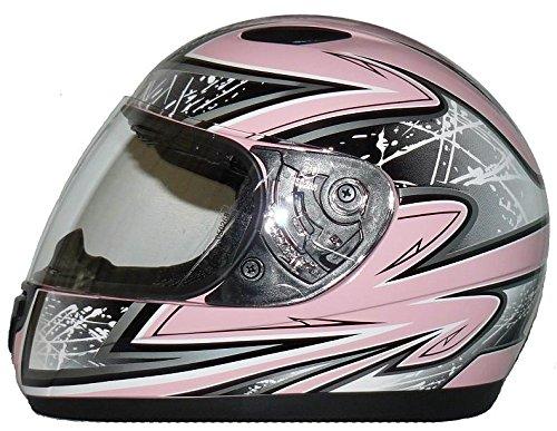 Kinder Motorradhelm pink SA03 + Sturmhaube - S