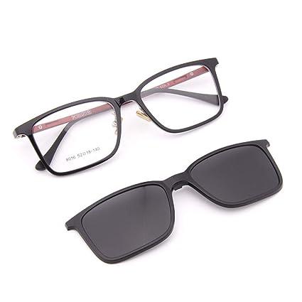 KOMNY Pata de Acero Ultraligero de plástico TR90 Doble Uso Gafas de Sol polarizadas de Marco