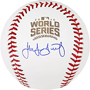 Jake Arrieta Chicago Cubs 2016 MLB World Series Champions Autographed World Series Logo Baseball - Fanatics Authentic Certified
