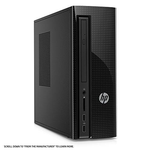 HP Slimline Desktop Computer, Intel Pentium J4205, 4GB RAM, 1TB hard drive, Windows 10 (270-a010, Black) by HP (Image #4)