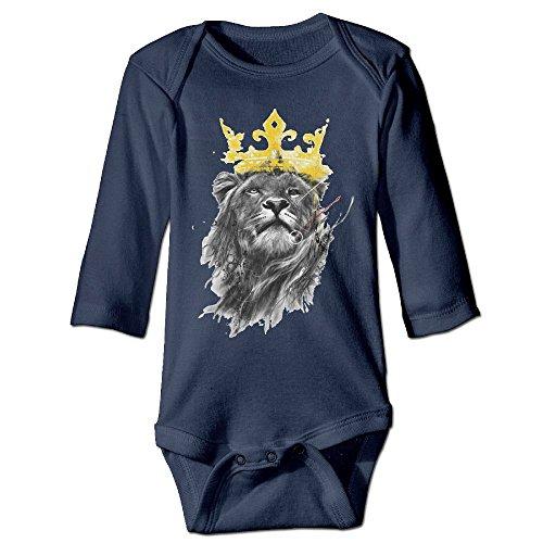 Price comparison product image Richard Unisex Newborn Bodysuits King Of Lion Girls Babysuit Long Sleeve Jumpsuit Sunsuit Outfit 18 Months Navy
