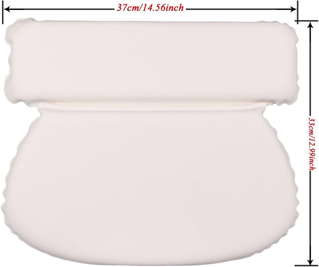 Geila Oreiller de Bain /étanche de Bain Spa oreillers Confort rembourr/ée antid/érapante Support Pad Oreiller pour t/ête du Cou et du Dos avec 7/ventouses