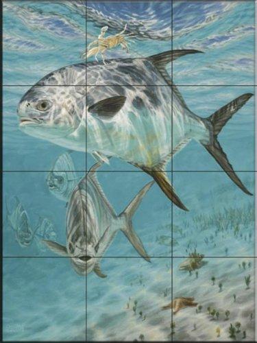 Ceramic Tile Mural - Channel Cruisers- by Don Ray - Kitchen backsplash / Bathroom (Sea Ray Cruiser)