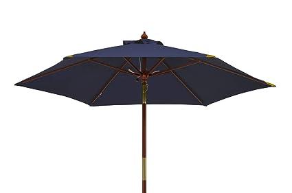 Sonnenschirm Strandschirm mit Knickgelenk Strand Garten Balkon Schirm blau