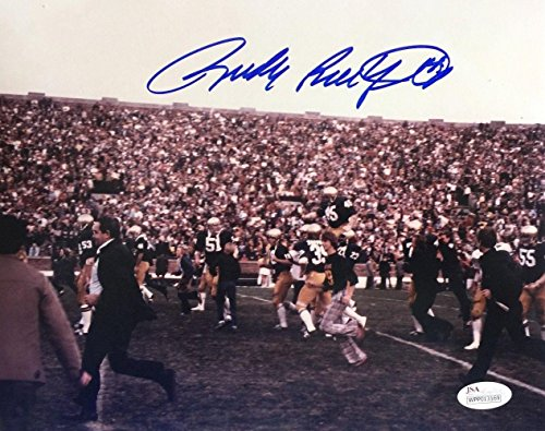 Rudy Ruettiger Signed Photograph - 8x10 Carry Off Field - JSA Certified - Autographed College ()