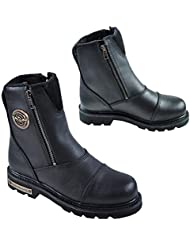 Milwaukee Mens Classic Motorcycle Boots (Black, Size 13)