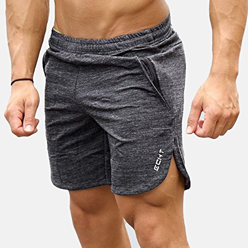 Aquilio Men's Athletic Summer Casual Gym Short Sweat Pants - L Size - - Ship And Track Usps