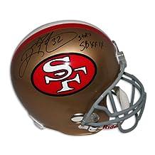 "Ricky Watters San Francisco 49ers Autographed Replica Helmet Inscribed ""3 TDS SBXXIX"" Autographed - Autographed NFL Helmets"