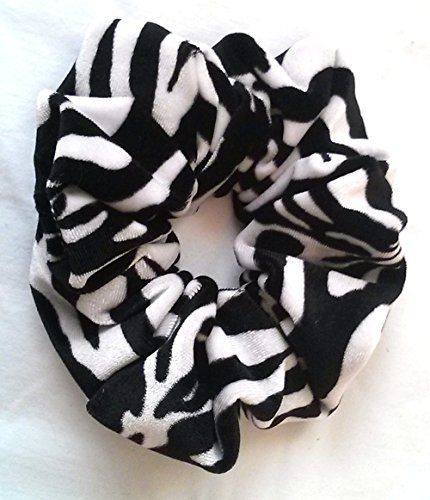 Zebra Velvet Hair Scrunchies-Regular - Made in the ()