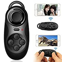 Kasstino Mini Portable Multi-functional Wireless Bluetooth 3.0 Gamepad Remote Controller Compatible with 3D VR Glasses Google Cardboard Selfie Camera Shutter Wireless Mouse Music Player iPhone iPad Ebook Tablet PC TV IOS Android PC systems