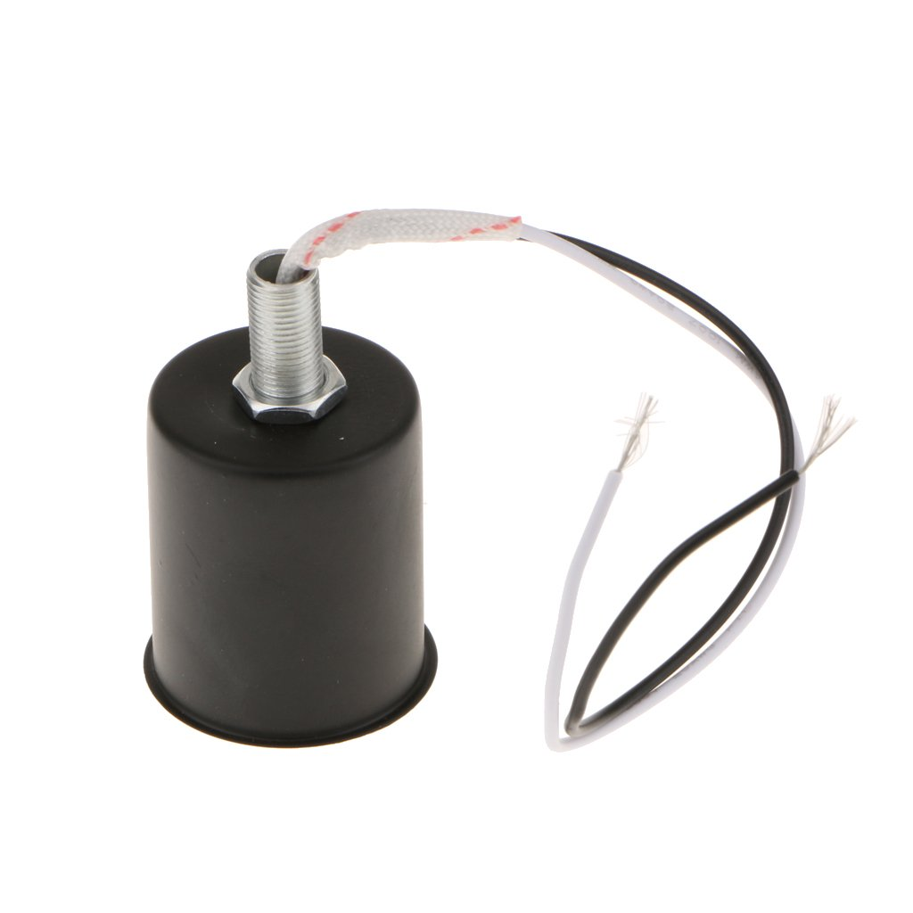Silber MagiDeal E27 E14 Rund Fassung Lampenfassung mit Kabel E27