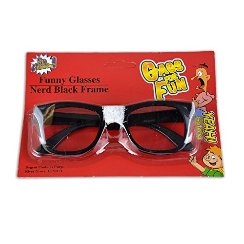 Funy Nerd Glasses with Black - Nerd With Glasses Tape