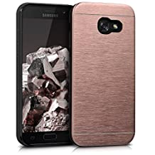 kwmobile Protective cover for Samsung Galaxy A5 (2017) - aluminium and TPU silicon cover in rose gold
