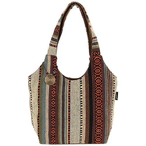 laurel-burch-catori-scoop-tote-16-inch-by-5-1-2-inch-by-11-inch-sandsation-by-laurel-burch