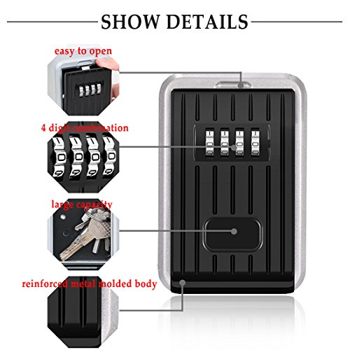 Kleidung & Accessoires Combination Lock Box Key Storage Lock Box 4-digit Combination Lock Waterproof Indoor/outdoor