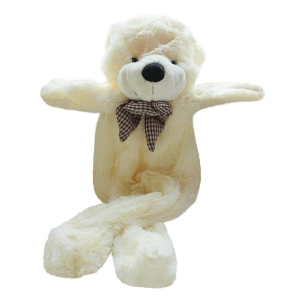 70'' ( 5.9 Feet ) Giant Teddy Bear Cover ( No Filler Cotton, Outer Shell with Zipper ) 180 cm (White, 70 inch) by Fengheshun