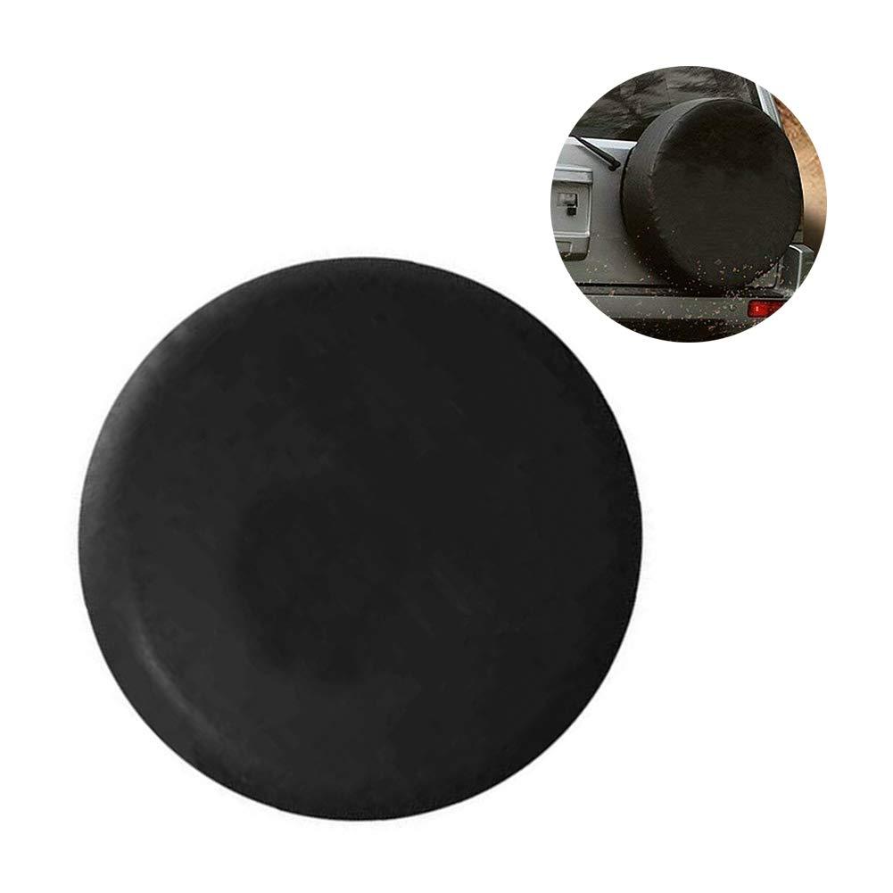 Mingmeng86 Oxford Entire Wheel Tire Protector Cover Entire Spare Wheel Cover For SUV RV Trailer Truck Wheel Black, A Size