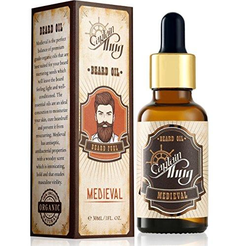 Captain Thug Beard Oil 30ml - (Medieval) - Premium Ayurveda - Made in India 1 Oz. -