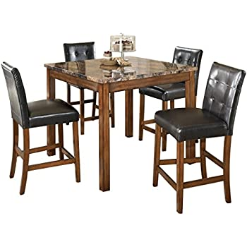 c035d570269c Ashley Furniture Signature Design - Theo Dining Room Table and Barstools -  Counter Height - Set
