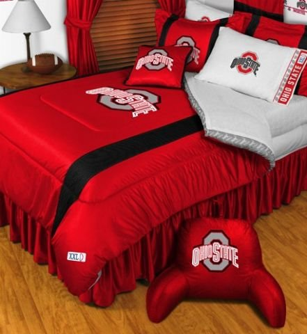 Ohio State University Sham (Ohio State Buckeyes NCAA Bedding - Sidelines Complete Set - Queen w/ 2 Sham)