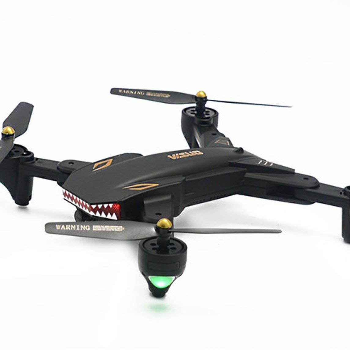 Footprintse XS809S RC Drohne mit 720 P Weitwinkel Weitwinkel Weitwinkel Kamera Faltbare Quadrocopter Headless Modus Höhe Halten G-Sensor WiFi FPV Drone-Farbe:schwarz 2f8997